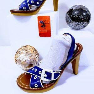 Michael Kors Shoes - Michael Kors Electric blue slingback Heels 7.5M💋